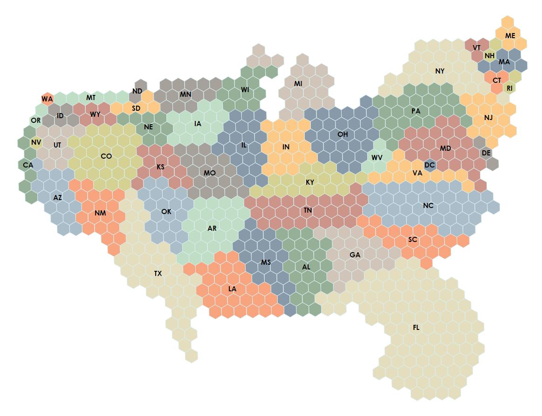 Custom Tile Cartograms in Tableau - Ken Flerlage: Analytics ...