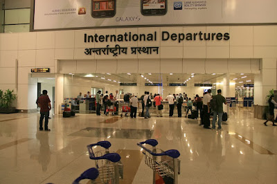 Airport immigration counter