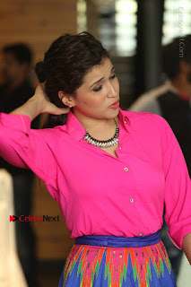 Actress Mannar Chopra in Pink Top and Blue Skirt at Rogue movie Interview  0099.JPG