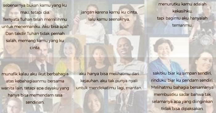 Kata Mutiara Cinta Dari Tokoh Ternama Untuk DP BBM, Line, Path Dan Instagram
