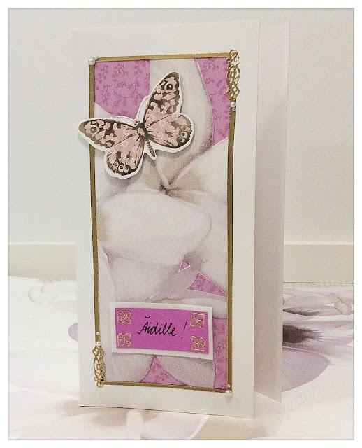 kortti äitienpäivä perhonen