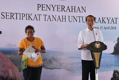 Presiden Jokowi Serahkan 3.331 Sertifikat Tanah di Jayapura - Info Presiden Jokowi Dan Pemerintah