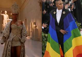 Rihanna and Lena Waithe 2018 Met Gala