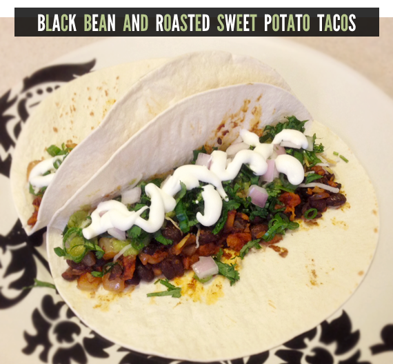 Black Bean and Roasted Sweet Potato Tacos