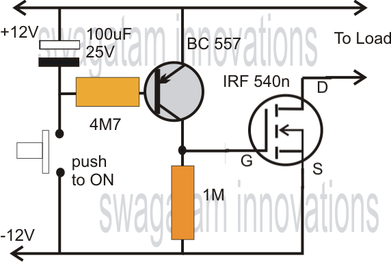 Simple Mosfet Switch Circuit with Delay Timer