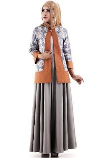 Model baju batik muslim untuk kerja modis