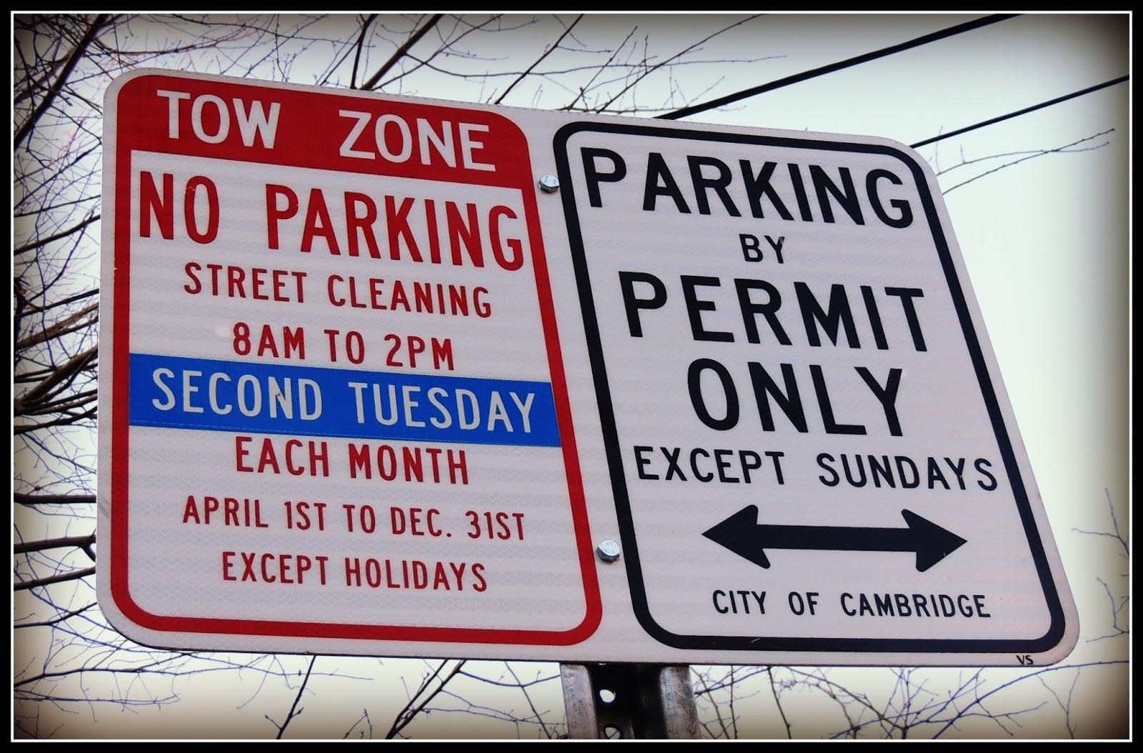 Aparcar en Cambridge: Señales de Tráfico
