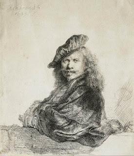 Autoritratto con camicia ricamata, Rembrandt