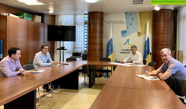 Quintero y Clavijo analizan con ASPROCAN la situación actual del plátano y su perspectiva de futuro