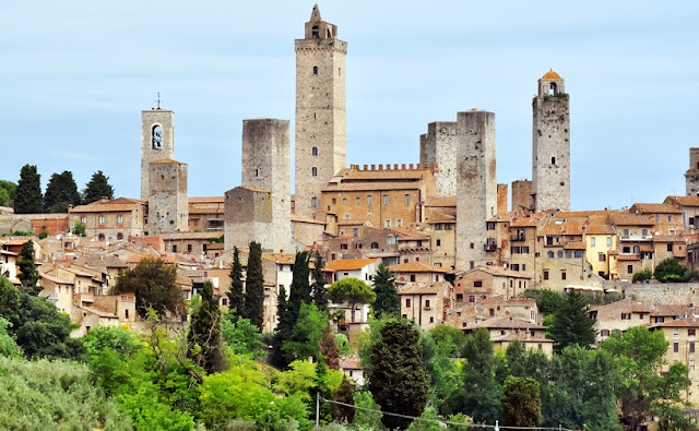 Vista de San Gimignano na Itália