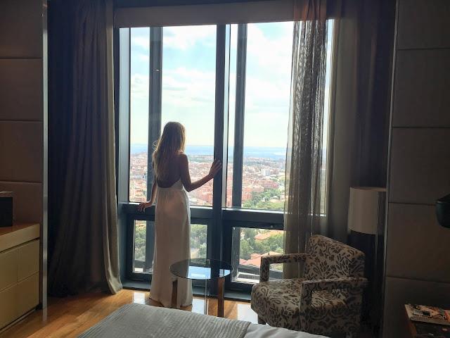 Panorámica desde la habitación del Eurostars Madrid Tower
