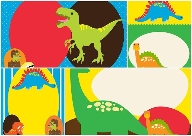 Invitaciones para Fiesta de Dinosaurios Bebés para Imprimir Gratis.