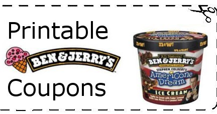 picture regarding Ice Cream Coupons Printable named Ben and Jerrys Ice Product Discount coupons Printable Grocery Discount coupons