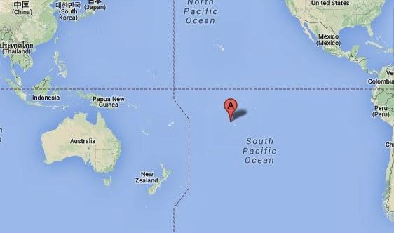 Puntero De Ubicación Con Un Corazón: Las 1001 Islas: Tupai, La Isla Corazón
