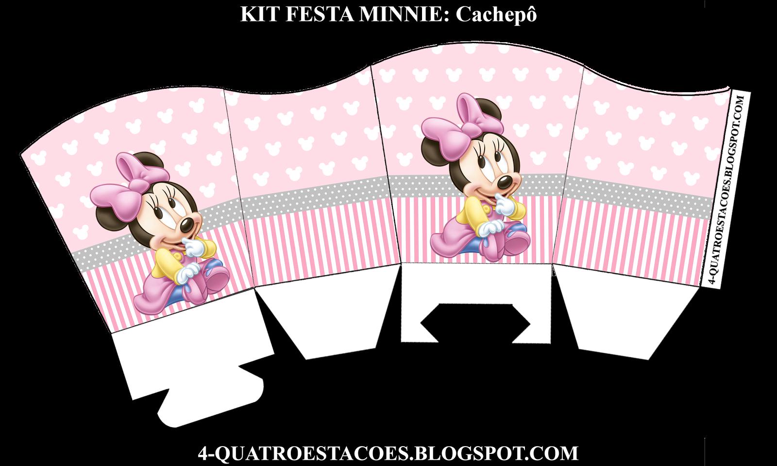 Quatro Estacoes Kit Festa Minnie Baby Caixas