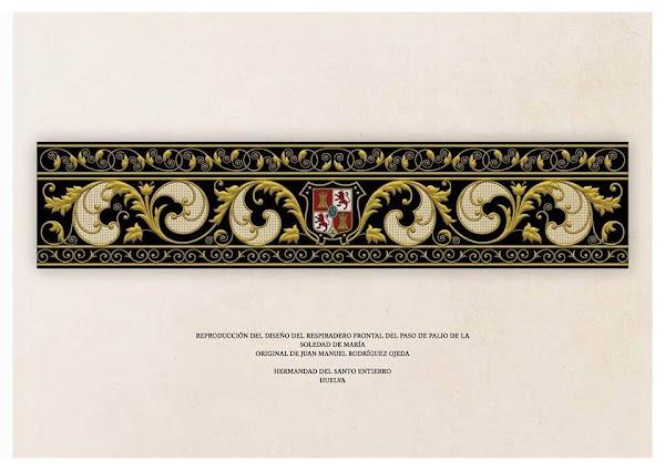 La comisión del palio del Santo Entierro de Huelva inicia el bordado del respiradero