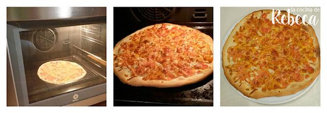 Receta de pizza de jamón, rúcula y parmesano 02