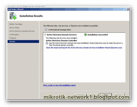 Install active directory in window server 2008 ~ Network