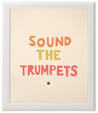 Sound The Trumpets Print from Castle