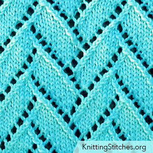 Flemish Block Lace on a background of sockinette stitch. Flemish Block Lace Knitting Pattern