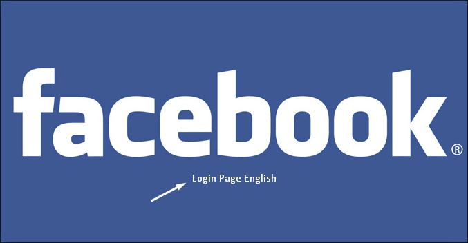 Facebook login in page in english