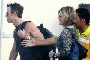 Jennifer Aniston and Justin Theroux arrived in Mexico