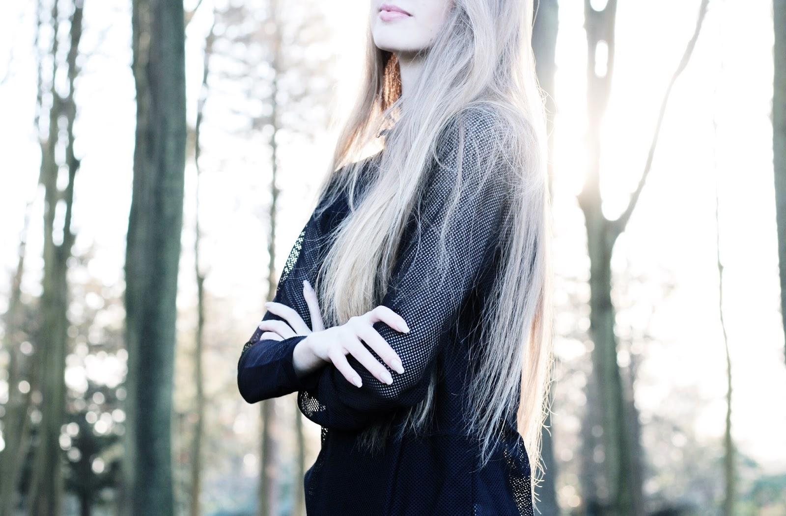 UK fashion blog black mesh activewear