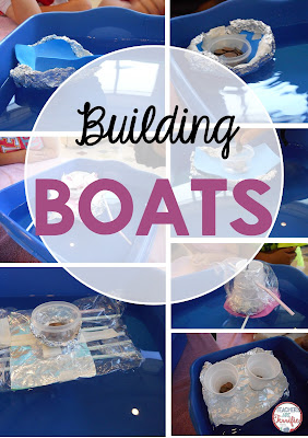 STEM Challenge: Build a oat that has to float and hold weight! Test it with weights and have students improve to make it even better!