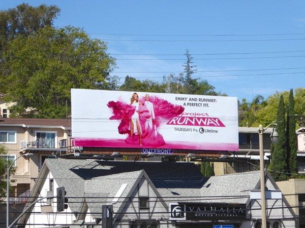 Project Runway Emmy Perfect fit billboard