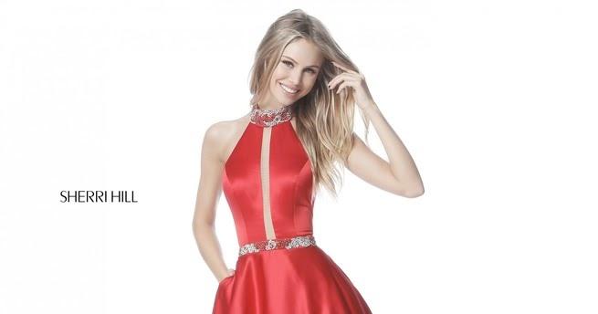 25f1cd39913 2018 Sherri Hill 51589 Red Long Prom Dresses