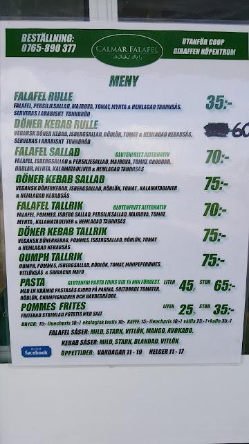 Calmar Falafel foodtruck meny - Rörelse för djurrätt