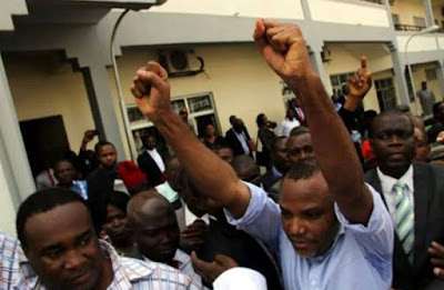 Nnamdi Kanu leaves Kuje prison after 2 years
