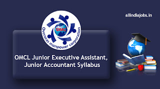 OMCL Junior Executive Assistant Syllabus