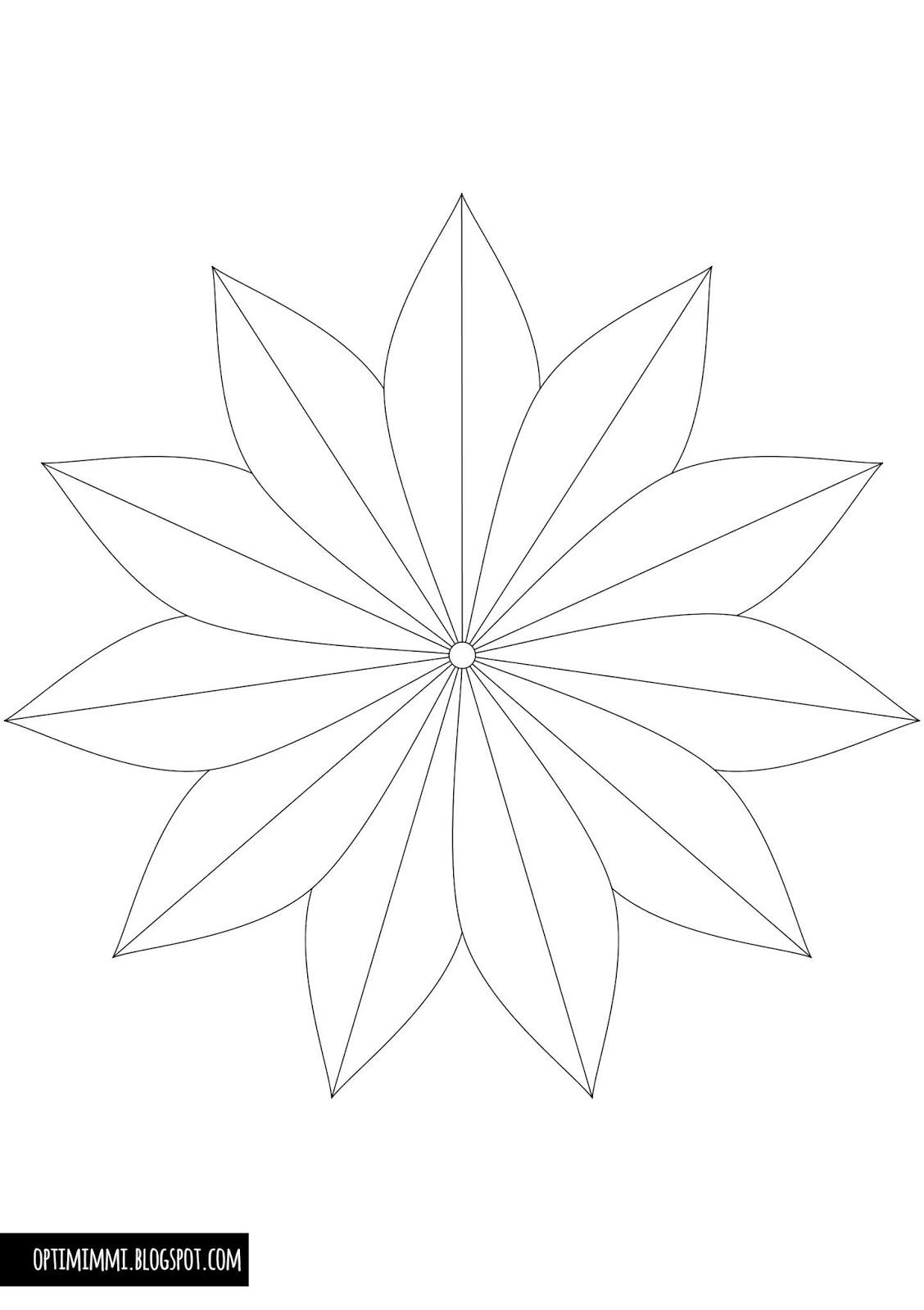 OPTIMIMMI: A pretty flower (a coloring page) / Nätti kukka