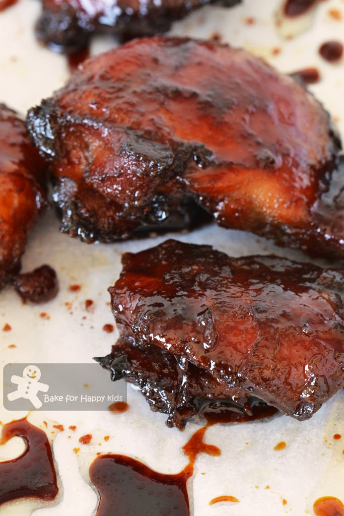 Chinese BBQ grilled char siu chicken