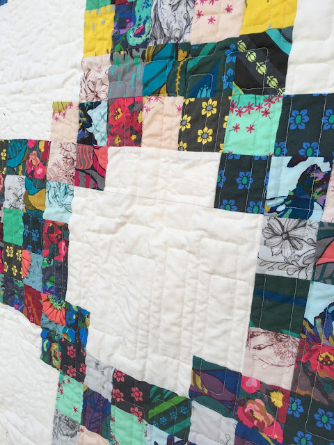 Quilt from Anna Maria Horner's Mod Corsage fabric line pattern from Quilting Quickly magazine