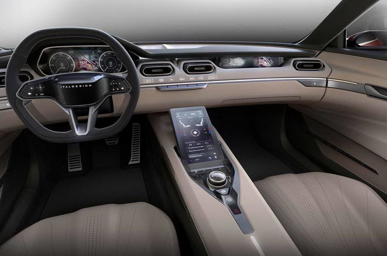 a659af962c Drivers sit behind a flat-bottomed steering wheel which appears to feature  a number of touch-sensitive controls. Behind the wheel is a fairly ordinary  ...