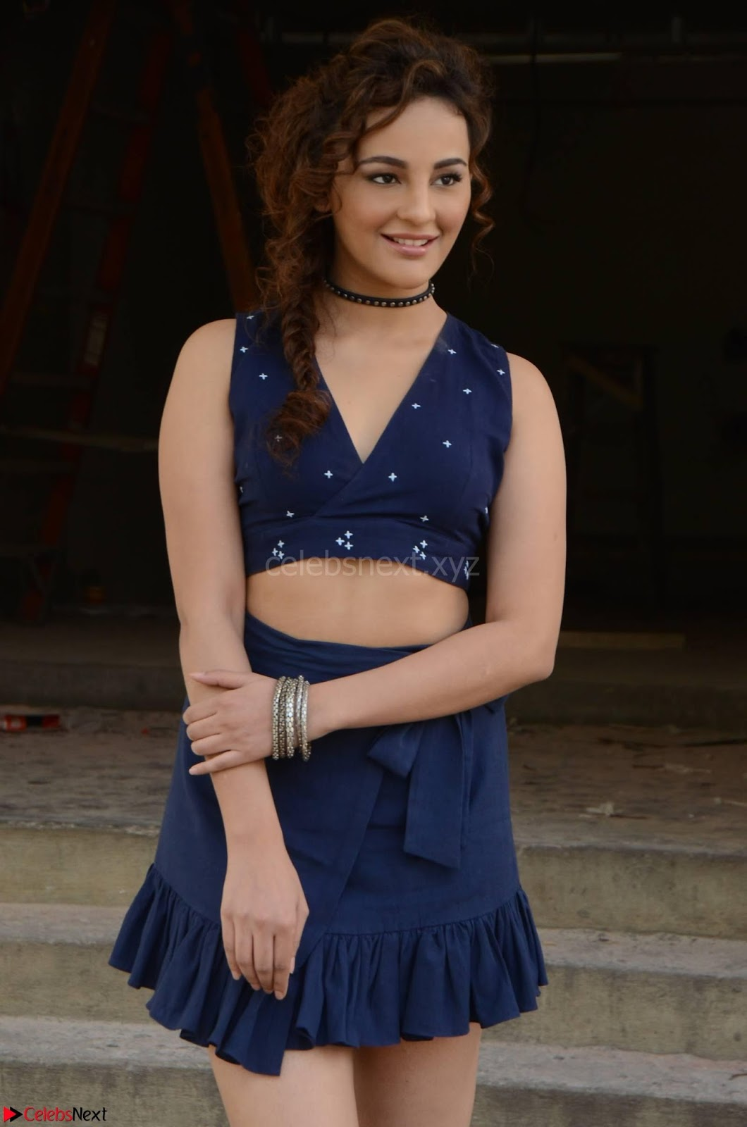 Seerat Kapoor Stunning Cute Beauty in Mini Skirt  Polka Dop Choli Top