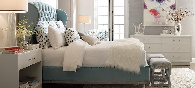 vanguard furniture aqua tufted bed