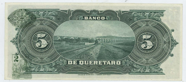 Billetes Mexicanos Mexico Cinco Pesos bill notes