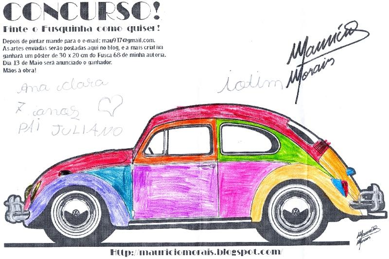 Desenho De Fusca: ANA CLARA (Filha Do Juliano