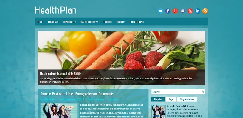 HealthPlan Free Blogger Template
