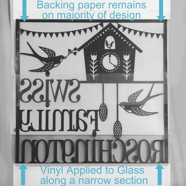 Hinge Method for applying vinyl to glass tutorial by Nadine Muir for UK Silhouette Blog