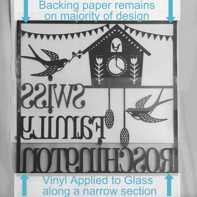 Hinge Method for applying vinyl to glass tutorial by Nadine Muir for UK Silhouette Blog