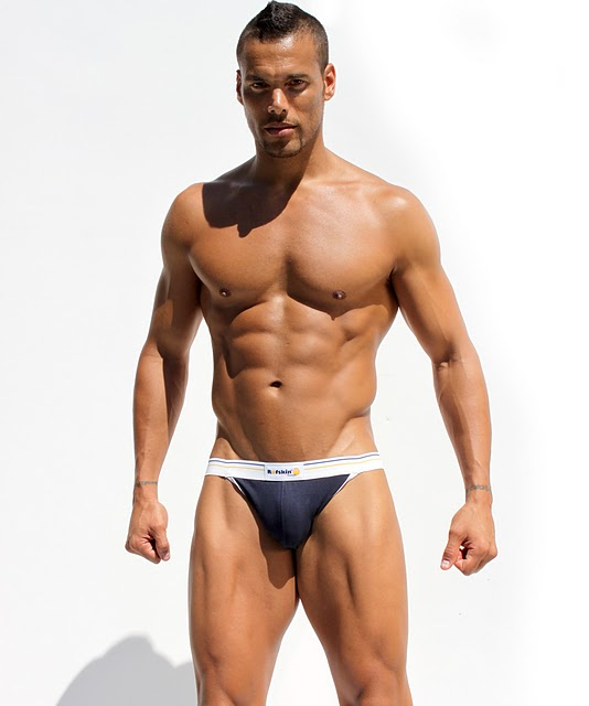 Handsome Muscle Man Gymnastic Rings