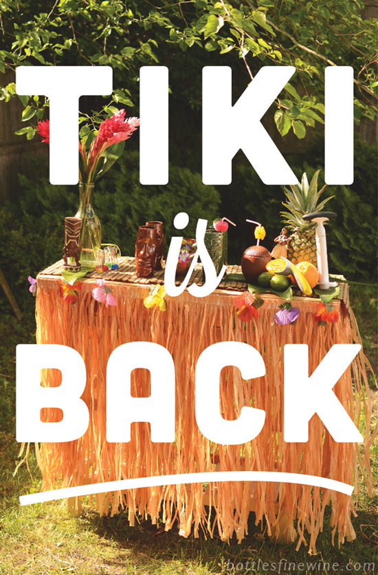 vintage tiki drinks party idea