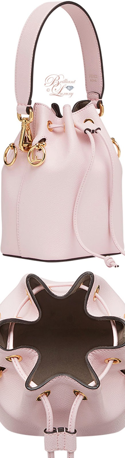 Brilliant Luxury ♦ Fendi pink bucket mini bag