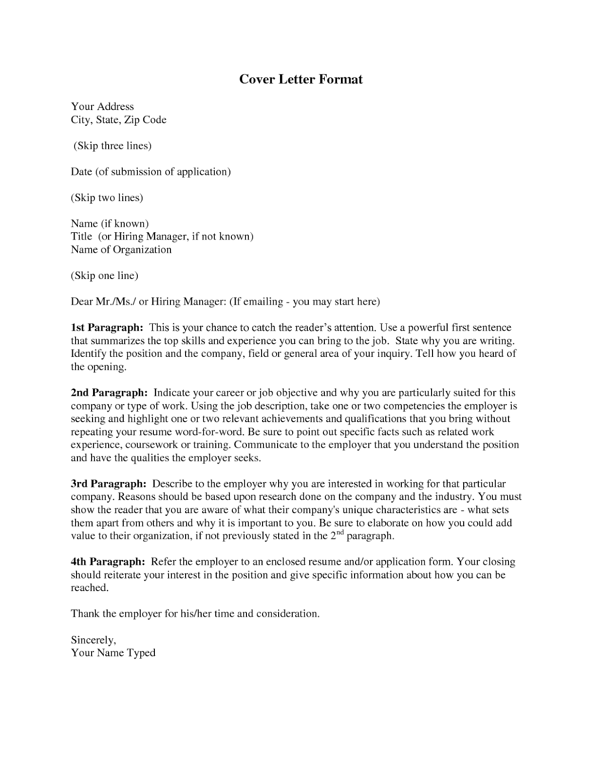 Format a cover letter fieldstation format a cover letter how do you madrichimfo Images