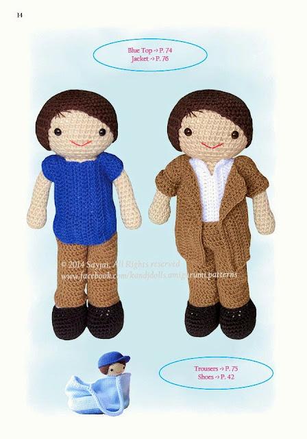 Amvabe Crochet Crochet Doll Clothes