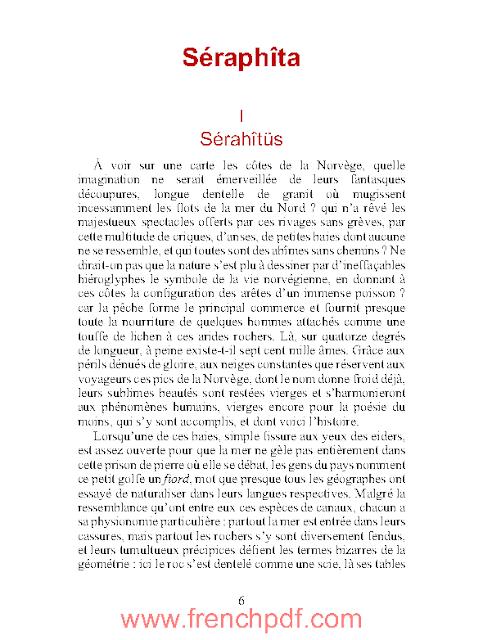 Roman: Séraphîta en pdf par Honoré de Balzac